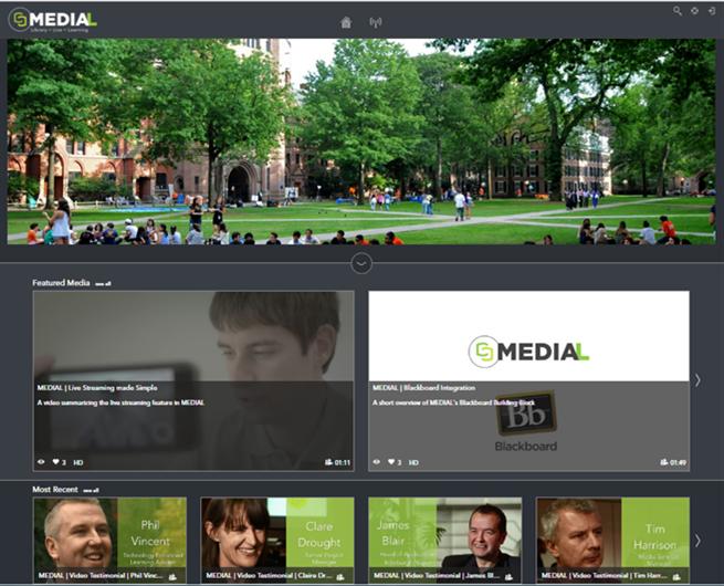Screenshot from Medial V5 demo server